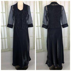 Mother of Bride Jacket Dress Sequin Trim